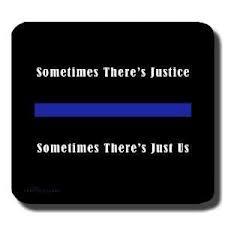 Well Known Police Blue Line Slogan Sticker