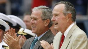 George W Bush's #43 and George H Bush's# 44 US Presidents