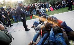 Police Sprays witnesses during demonstration