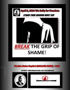 Break The Grip of Shame Rally-Tuesday April 8, 2014