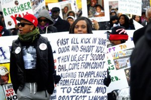 Constance Malcom at a Protest!
