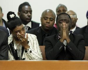 Ramarley Graham's Mother Constance Malcolm and Father Frank Graham (shocked) after decision not to indict Haste