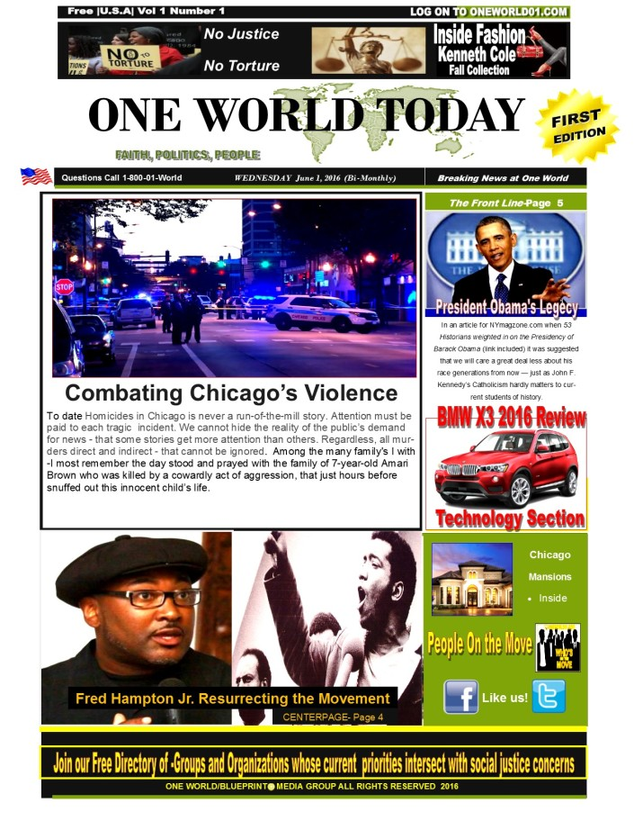 ONE WORLD LIVE NEWSPAPER June Cover